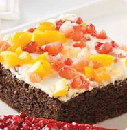 Healthy fruit chocolate slab