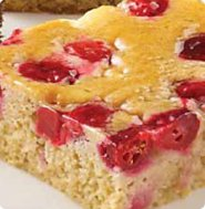 Healthy cranberry apple cake