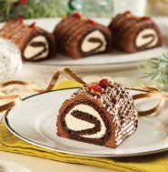 Christmas : Maple-chocolate mini yule log