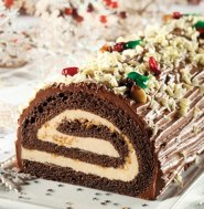Christmas : Chocolate-praline yule log