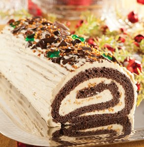 Christmas : Praline yule log