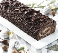 Royal Praline chocolate christmas log