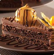 Chocolate profiterole slab cake